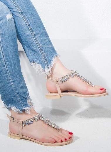 Nemesis Shoes Nemesis Shoes Parmak Arası Kadın Sandalet Bej